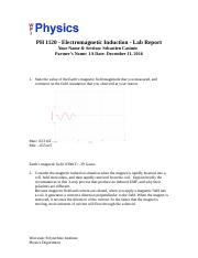 Electomagnetic Induction - Lab Report.docx