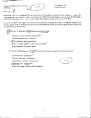 KN 251 Exam 2 Nov 2007 with Answers