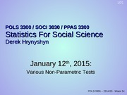POLS 3300 week 14 non-parametric tests
