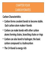 Chapter 4- Carbohydrates.pptx