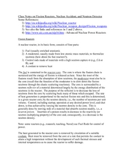 Class Notes on Fission Reactors Nuclear accidents and Neutron detection