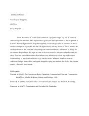 Consumerism Essay Proposal