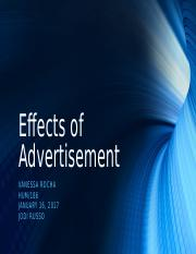 HUM:186 Effects of Advertising