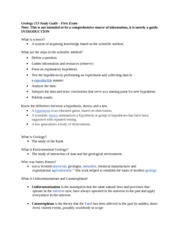 Geology 113 Study Guide