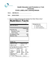 Food-Labelling-module-quiz