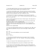 Econ 310-1 Winter 2008 PS2 with Answers
