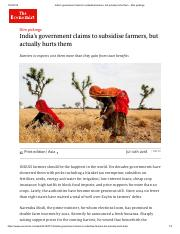 Indian government claims to subsidise farmers, but actually hurts them - Economist.pdf
