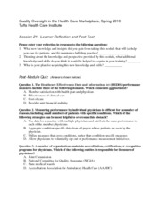 Quality Oversight in Health Care Marketing Notes  5