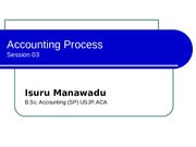 Accounting process - Session 03