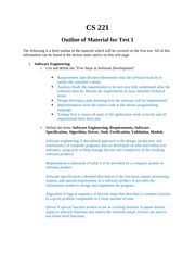 CS 221 Test 1 Study Guide