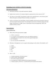 Immunology Lecture 3 USCA Questions-Fixed
