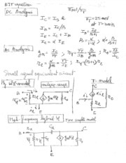 review for BJT and Mosfet equations