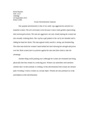 SOC 2123- Extra Credit Assignment- Sexist Analysis