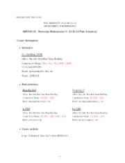 Course information (1013)(2012-13 1st semester)(updated 4-10-12)