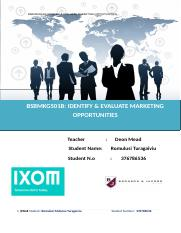 BSBMKG501B IDENTIFY & EVALUATE MARKETING OPPORTUNITIES.doc