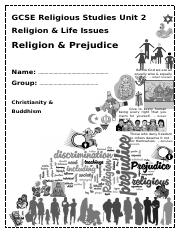 Prejudice booklet
