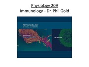 Immunology - Dr. P. Gold