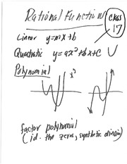 Class 17 Notes (Rational Functions)