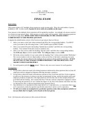L201  (Fall 2003) - Hour exam 3 (edited)