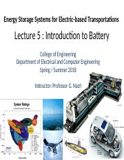 Lecture 5- Introduction to Battery,  .pptx