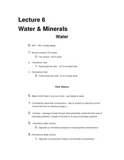 NTR 109 WATER_MINERALS OUTLINE (LECTURE 6)
