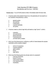 Study Questions Introduction and Overview-Fall 2014