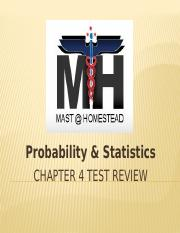 Probability _ Statistics Chapter 4 Test Review_2015.pptx