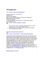 Management - definition
