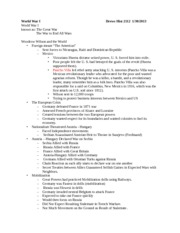 Test 2 Notes History