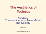 Aesthetics-Technics-2011