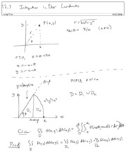 12.3 Integration in Polar Coordinates