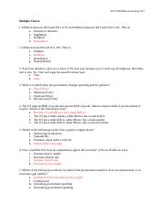 Macro Practice Problems S17 Answers