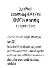 GROUP PROJECT GUIDELINES marketing and society 2017 (1)