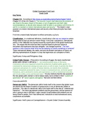Global Governance Final Exam Study Guide