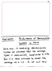 Lecture Notes - Communication system Performance in Noise