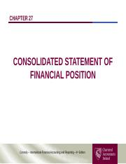 Chapter 27 - Consolidated Statement of Financial Position (2)