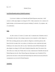Contracts essay_Consideration