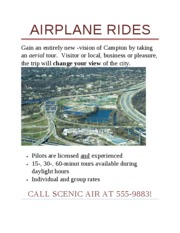 Lab 1-1 Airplane Rides Flyer