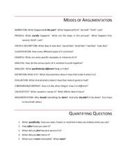 modes of essays