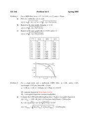 EE 164 Problem Set 5 Solution