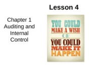 Chap01 Lesson4 Auditing and Internal Control