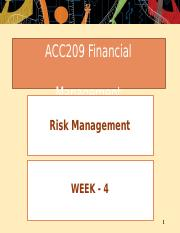 Week  04 - Risk Management.pptx