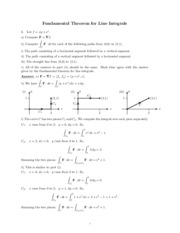 Fundamental Theorem for Line Integrals study guide