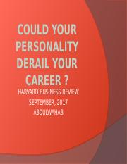 Could your personality derail your career.pptx
