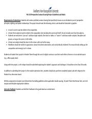 FAS 110 Perspective Contour Drawing Project Guidelines and Rubric