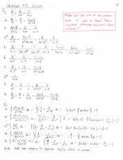 Worksheet 5 Solutions