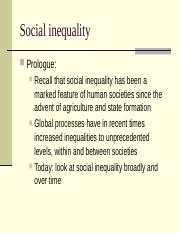 102-20 SOCIAL INEQUALITY