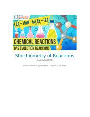 Stoichiometry of Reactions Lab Report.docx