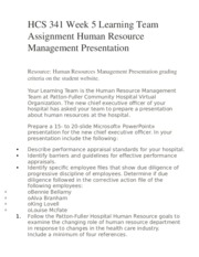 hcs 341 training and development paper Free essay: hcs 341 (human resources in healthcare) complete class if you want to purchase a+ work then click the link below , instant download.