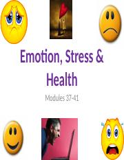 PSY 101V Emotion, Stress  Health (student view)